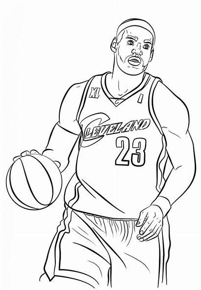 Coloring Pages Lebron James Nba Printable Basketball
