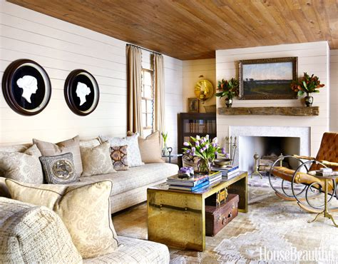 white paint color  living room  country style