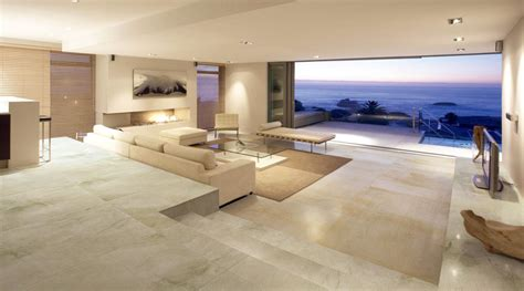 a large luxury lounge in a modern front house tiled