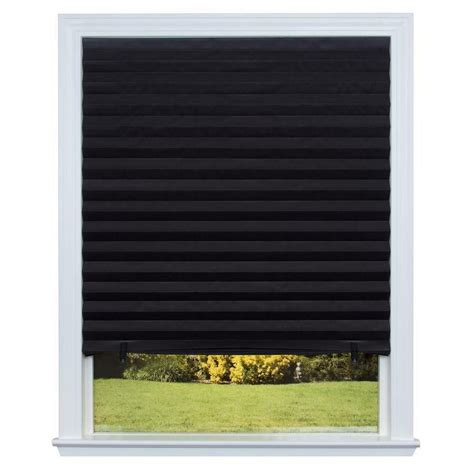 Paper Blinds by Redi Shade Paper Window Blinds Black Out Pleated 48 X 72