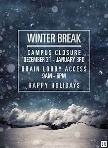 Winter Break - Image Mag
