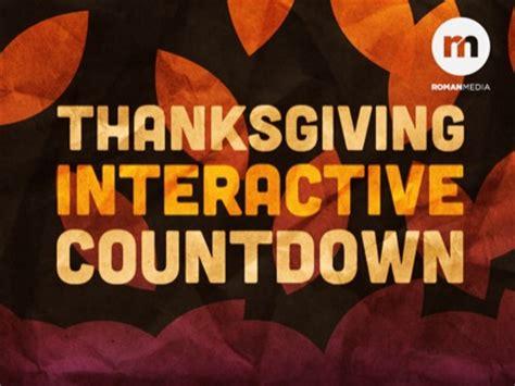 thanksgiving countdown thanksgiving interactive countdown creative sheep worshiphouse media