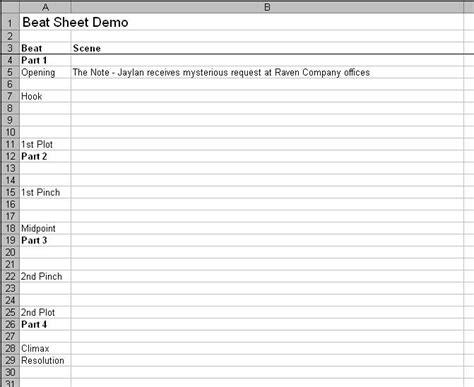 beat sheet evolution of a beat sheet