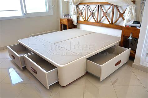 cama de matrimonio  cajones