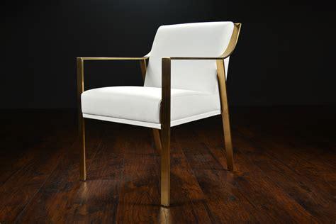 Modern Metal Framed Arm Dining Chair   Mecox Gardens
