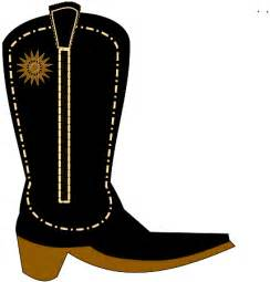 Cowboy Boot Clip Art Black and White