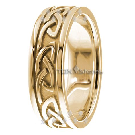 18k solid gold celtic wedding bands celtic wedding ring