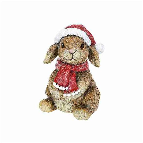 christmas decoration ornament woodland rabbit