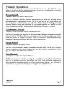 truck driver resume description truck driver description for resume resumes design