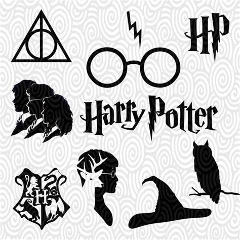 cricut templates cricut template harry potter silhouette no fill png files cutting machines scrapbooking
