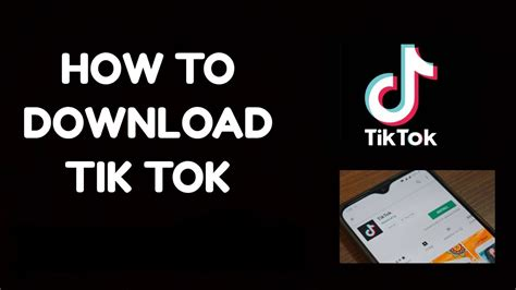 How to download Tik Tok App | TikTok Apk Download | - YouTube