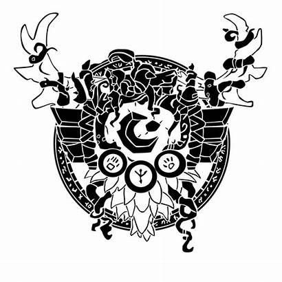 Druid Crest Vector Symbols Ropa Tattoo Designs