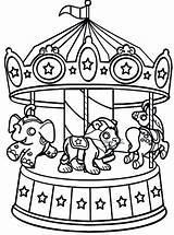 Coloring Carnival Pages Carousel Circus Wheel Ferris Printable Sheets Rides Bumper Cars Animals Print Animal Food Find Riders Colouring Fair sketch template