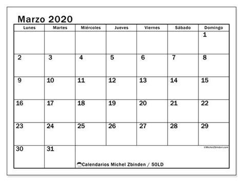 calendario marzo  ld calendario enero