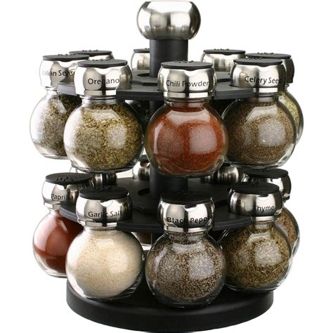 Thompson Spice Rack by Olde Thompson Orbit 16 Jar Spice Rack Countertop Wall
