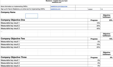 okr spreadsheet template db excelcom