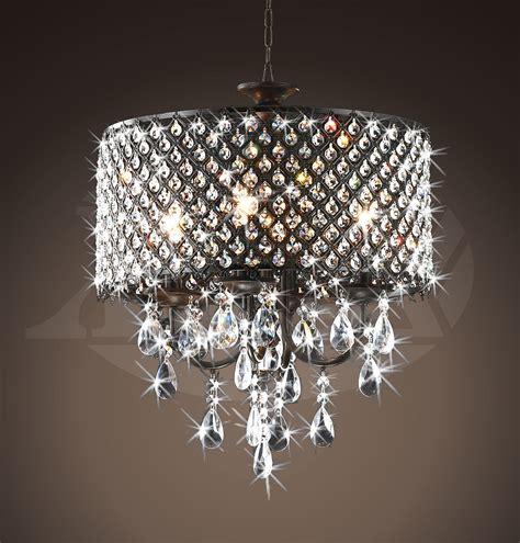 crystals for chandeliers rachelle 4 light antique bronze brass