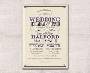 wedding rehearsal dinner invitation custom printable With when to send wedding rehearsal invitations