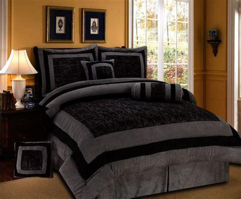 amazoncom  pieces black  grey micro suede comforter