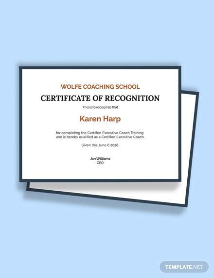 FREE Executive Coaching Certification Template - Word (DOC)