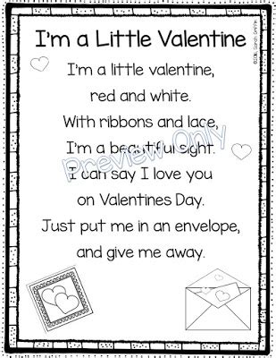 daughters and kindergarten 5 s day poems for 595 | I%2527m%2Ba%2BLittle%2BValentine