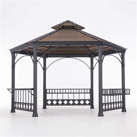 hexagon gazebo hexagonal gazebo cp top