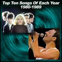 Get list of 100 top song hits of 1989 for your collection or ipod and mp3 playlist. Top Ten Songs Of Each Year 1980-1989