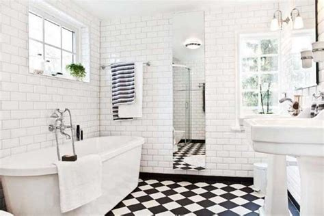 Black And White Tile Bathroom Flooring Tile Ideas