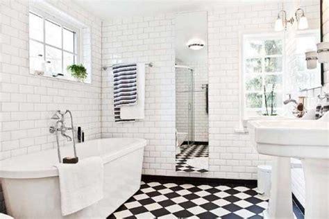 Black And White Tile Bathroom Flooring Tile Ideas  Home