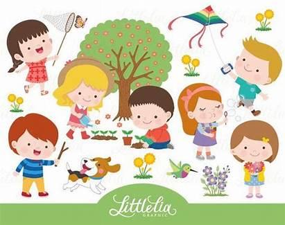 Clipart Outdoor Spring Activity Fun Activities Clip