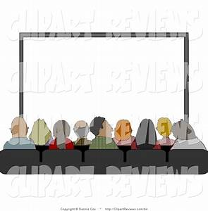 Clip Art of a Captivated Audience Sitting in Their Seats ...