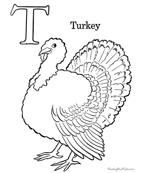 preschool coloring page of thanksgiving turkey 008 561 | 008 preschool coloring turkey