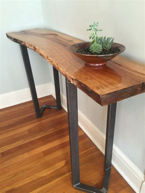 sofa table entryway table  edge slab bar table console