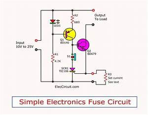 Simple Electronic Fuse Circuit