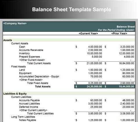 balance sheet template  word excel  formats