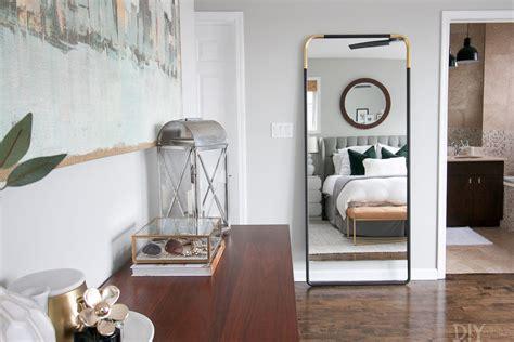secure  leaning mirror   wall  diy playbook