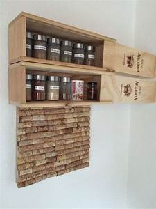 Pinnwand Selber Bauen : gew rzregal aus weinkisten und pinnwand aus korken coole ~ Lizthompson.info Haus und Dekorationen
