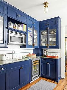 how to paint cabinets hgtv With kitchen colors with white cabinets with royal blue wall art