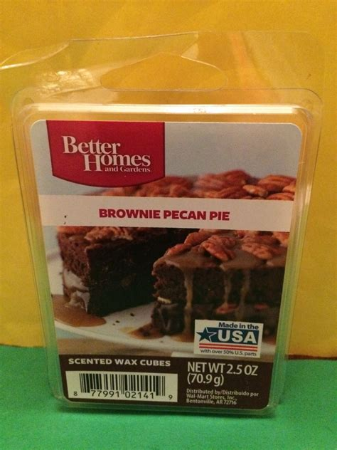 brownies better homes and gardens better homes and gardens brownie pecan pie scented wax cubes