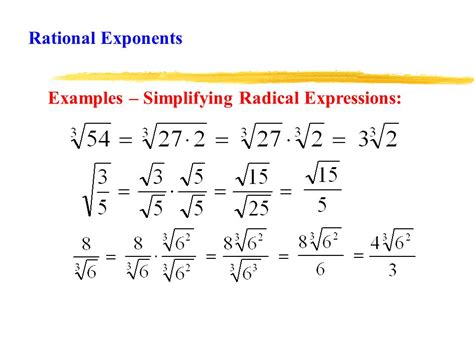 algebra ii rational exponents lesson ppt