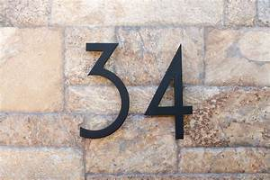 modern house numbers modern exterior phoenix by With outdoor house numbers and letters