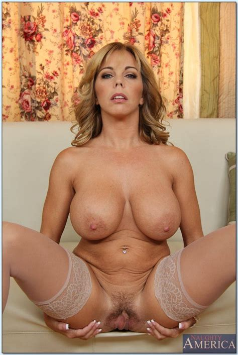 Busty Housewife Amber Lynn Bach Rides Dick In Nude