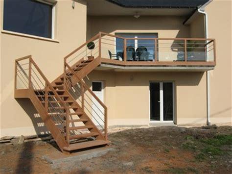 escalier acier bois ext 233 rieur
