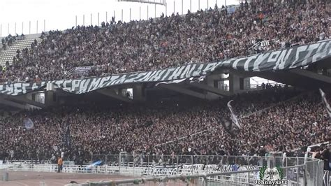 Paok Fans In Athens Oaka Stadium Cup Final 2014 Youtube