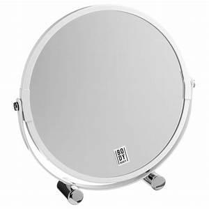 Miroir Sur Pied Blanc : miroir sur pied pivotant blanc ~ Teatrodelosmanantiales.com Idées de Décoration