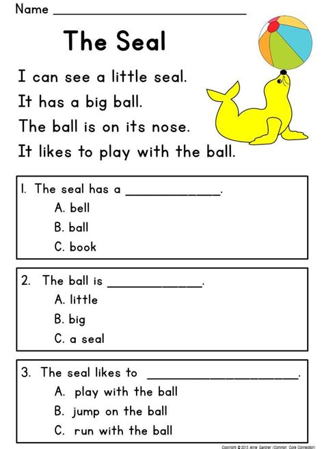 kindergarten reading comprehension guided rdg level