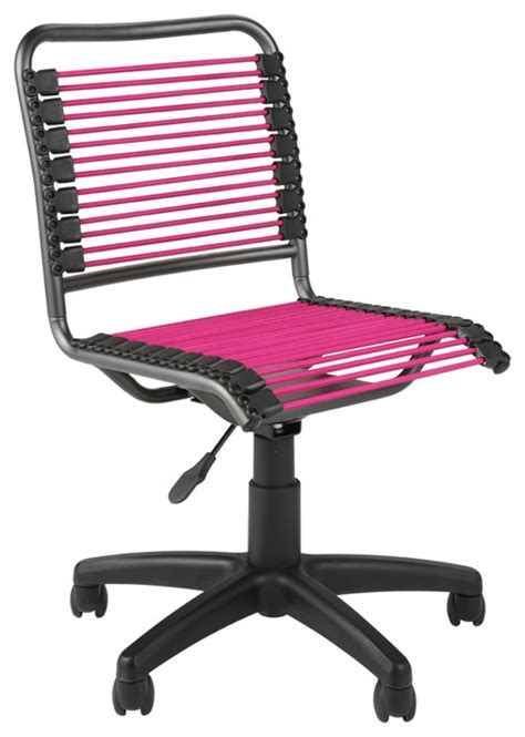 bungie low back office chair pink grblk contemporary