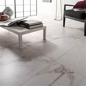 Carrelage Au Sol : carrelage sol et mur blanc carare effet marbre murano ~ Nature-et-papiers.com Idées de Décoration