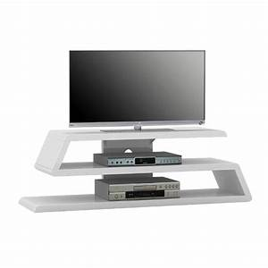 Louisiana White High Gloss Finish Plasma TV Stand 22907