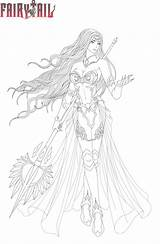 Fairy Tail Lineart Oc Executioner Thenight Eastland Guardian Deviantart sketch template